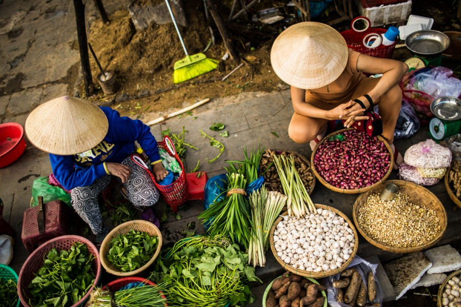 The markets of Hoi An