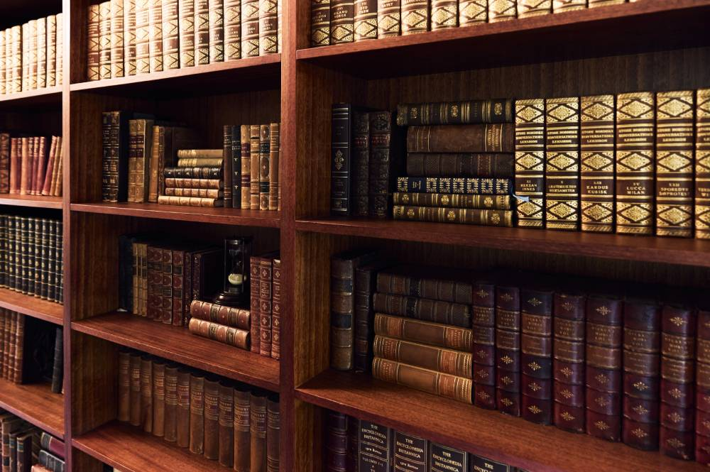 The library at a luxury villa for hire near Bellingen, often called the most beautiful town in Australia.