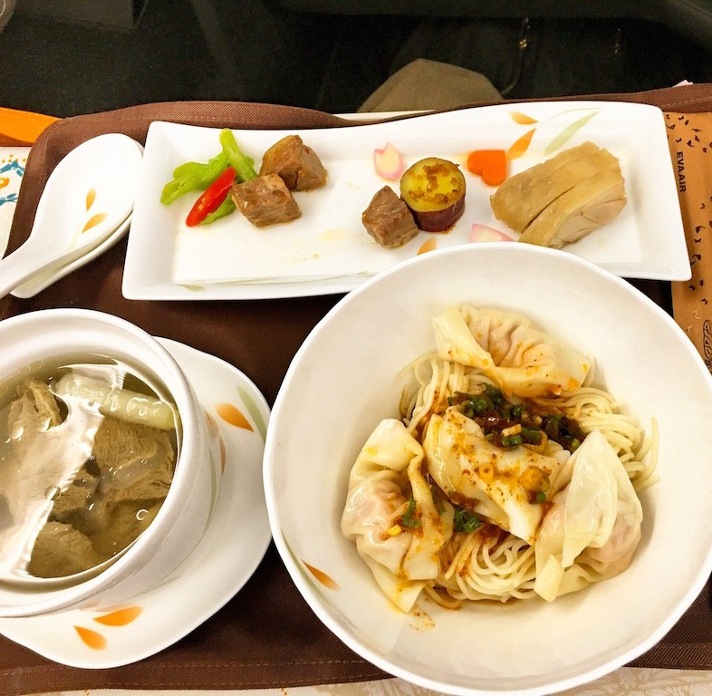 Inflight meals on Eva Air