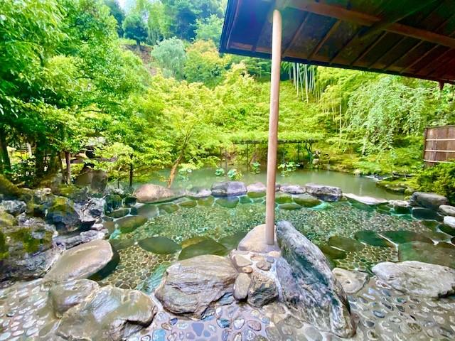The rotenburo of Asaba hot springs in Shizuoka, Japan.
