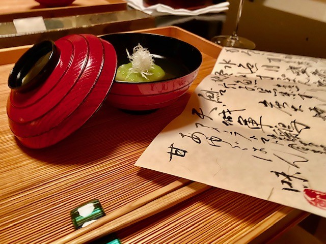 The food at Asaba Ryokan, a Relais & Chateaux hotel in Japan