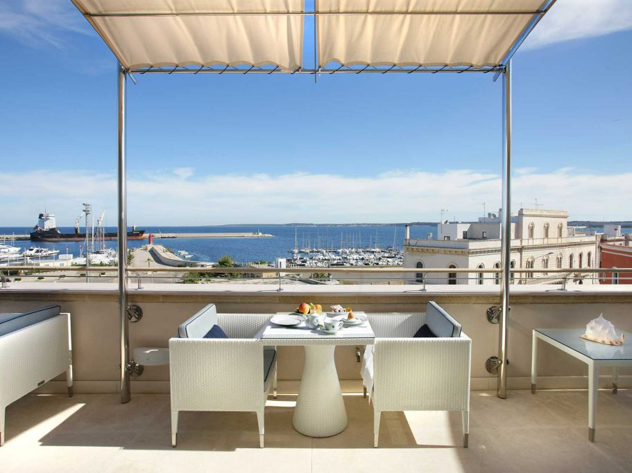 The Hotel Palazzo del Corso in the Old Town of Gallipoli, Italy