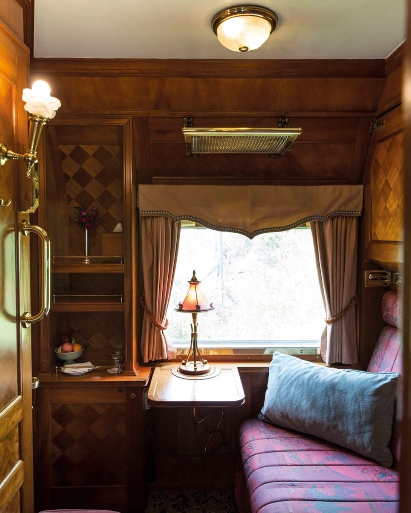 The cabin of the Eastern & Oriental Express of Belmond.