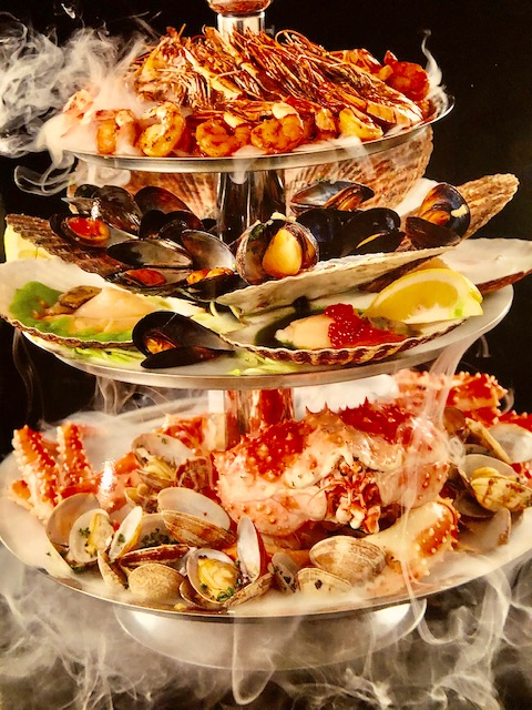 Seafood platter at Zuma in Vladivostok