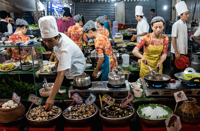 The best Street food in Saigon, Vietnam can be found in the night markets
