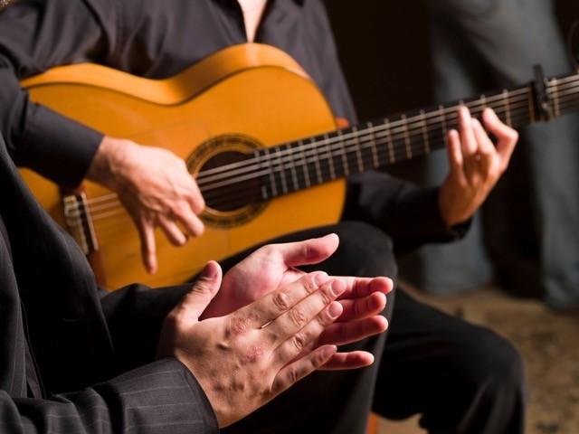 Spanish flamenco guitar in Andalusia