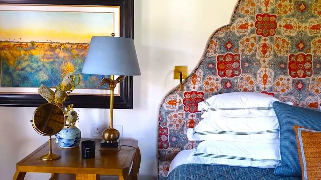 The bedroom of Cederberg House at Bushman's Kloof in South Africa