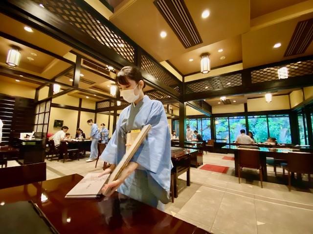 Teppanyaki at Mokushundo, the traditional Japanese restaurant of Chinzanso in Tokyo