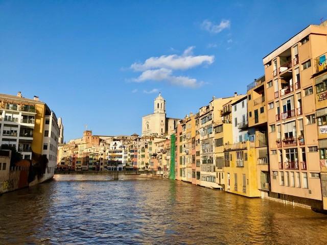 The river through the city of Girona