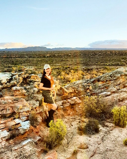 Travelife Magazine Publisher Christine Cunanan at Bushman's Kloof in South Africa