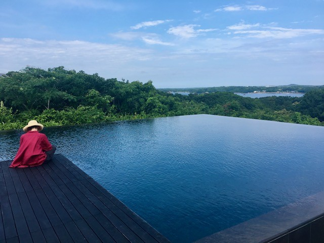 The view from the Aman Resort in Japan