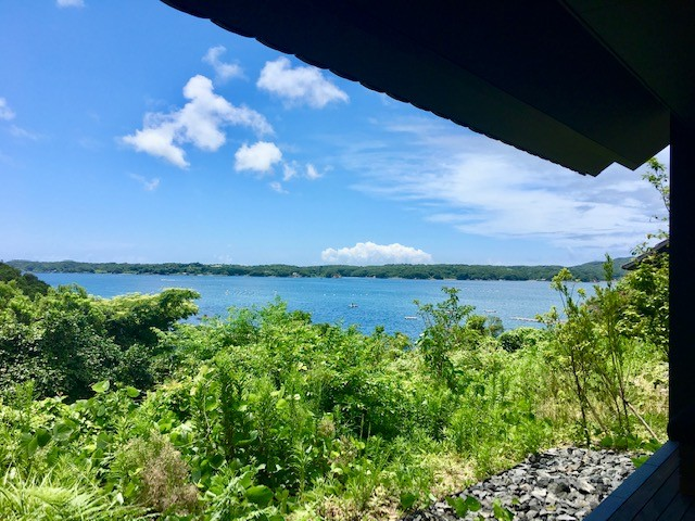 The view of Ise Bay from the Aman Resort in Japan