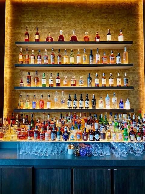 The bar of the Park Hyatt Niseko Hanazono in Hokkaido