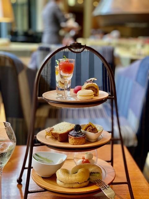 Afternoon tea at the Hyatt Regency Hakone in Japan
