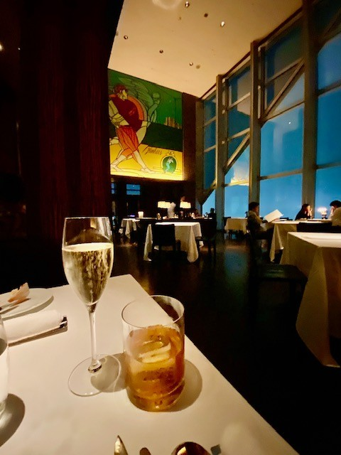 Dining at the New York Grill of the Park Hyatt Tokyo during Covid-19
