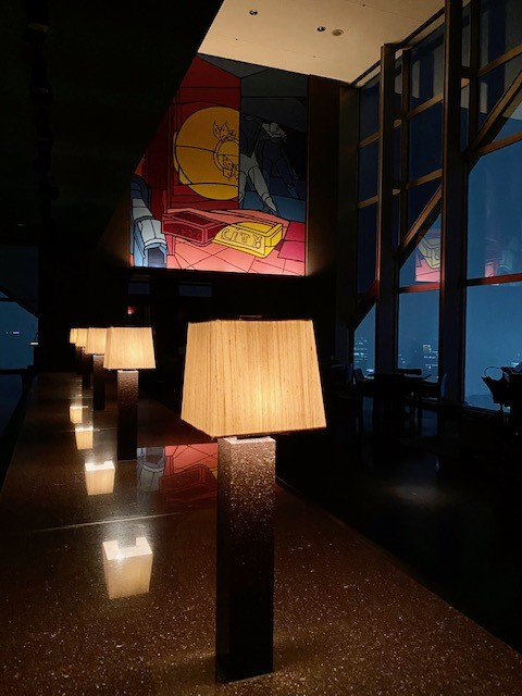 Dining at the New York Grill of the Park Hyatt Tokyo during Covid