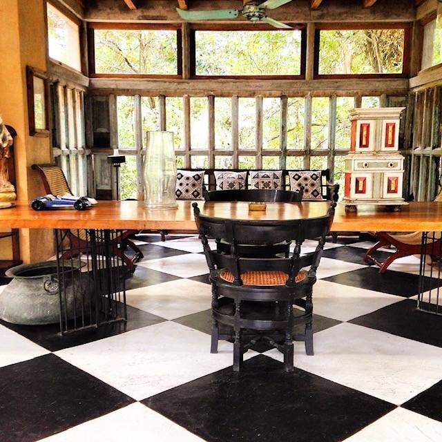Lununganga, home of Sri Lankan architect Geoffrey Bawa in Sri Lanka
