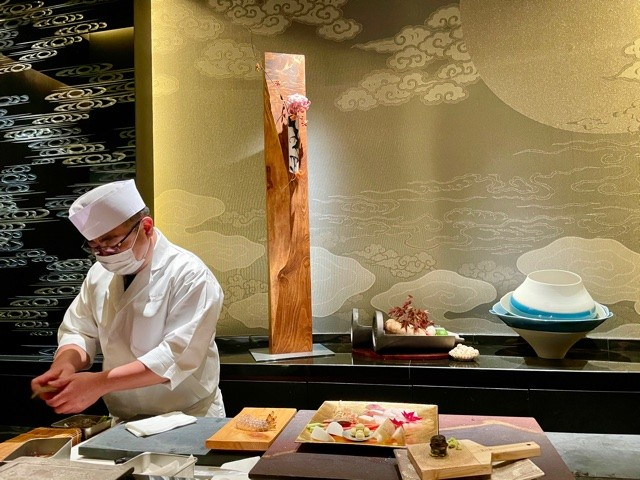 Mizuki Restaurant of the Ritz Carlton Kyoto is the best tempura restaurant