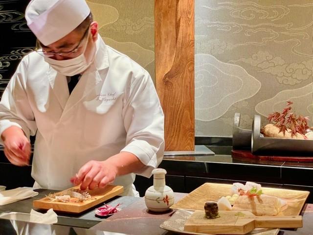 Best tempura in Kyoto is at the Ritz Carlton Hotel