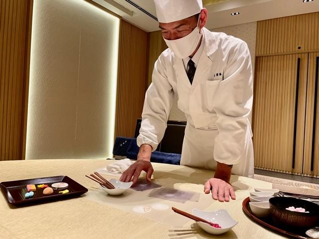 Traditional Kyoto sweets at the Ritz Carlton Kyoto