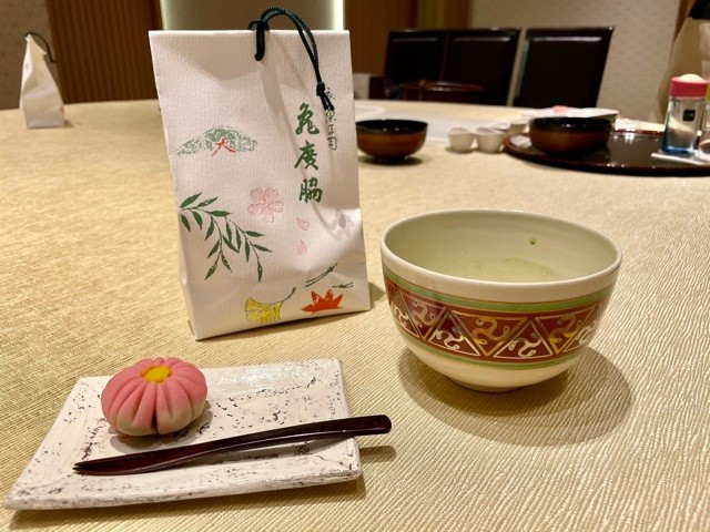 Learning how to make traditional Japanese sweets at the Ritz Carlton in Kyoto