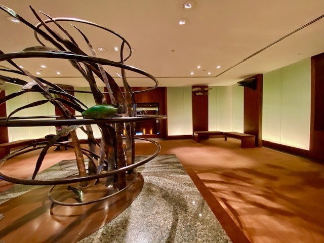 The entrance of the Park Hyatt Tokyo has remained the same since it opened