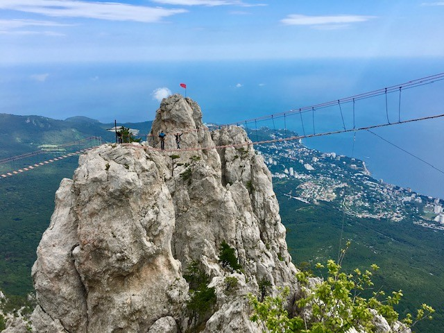 Climbing Ai Petri in the Crimea