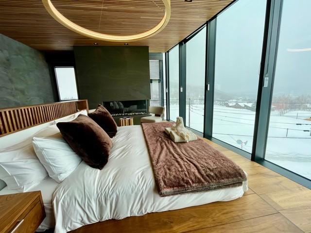 Master bedroom of penthouse unit of Haku Villas