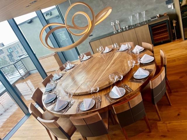 Dining room of Penthouse Unit 888 of Haku Villas