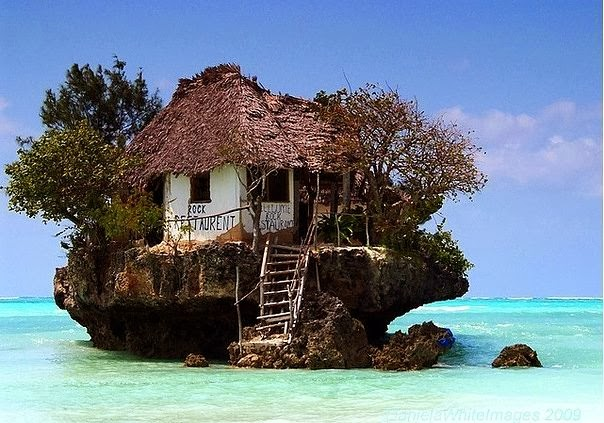 The famous fish restaurant of Zanzibar