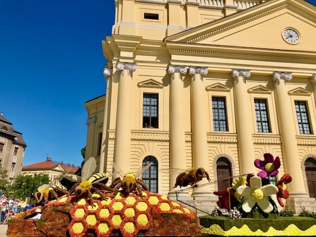 The most colourful festival in Hungary is the Debrecen Flower Festival