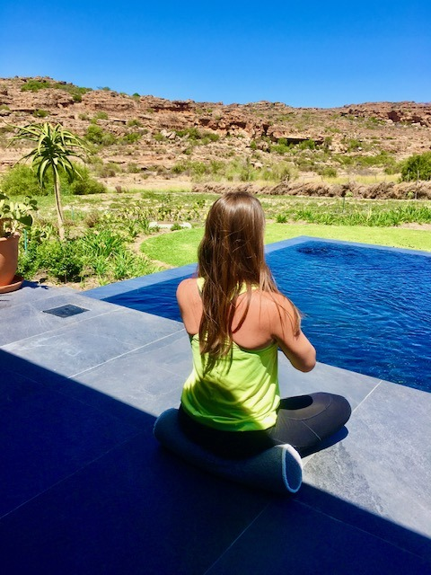 Wellness experience at Bushman's Kloof in South Africa, one of the top nature retreats in the world, includes private yoga lessons. It's a Relais & Chateaux property in the Cederberg Mountains.