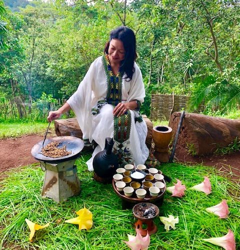 Coffee Culture in Ethiopia. Experiencing the coffee ceremony of Ethiopia at the best hotel in Yrgalem.