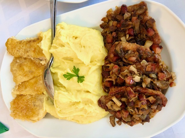 Traditional Hungarian food in the countryside of Hungary