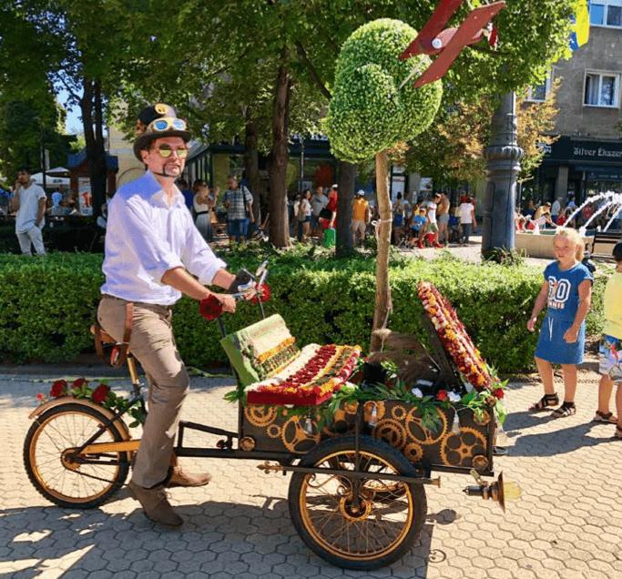Enjoying the Debrecen Flower Festival