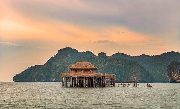 Traditional fish house of Four Seasons Resort Langkawi